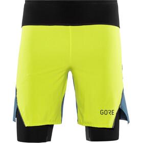GORE WEAR R7 Hardloop Shorts Heren groen/blauw